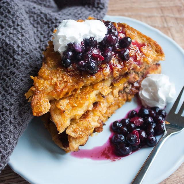 Veganer Frenchtoast in Cornflakes - vegmitdemfleisch