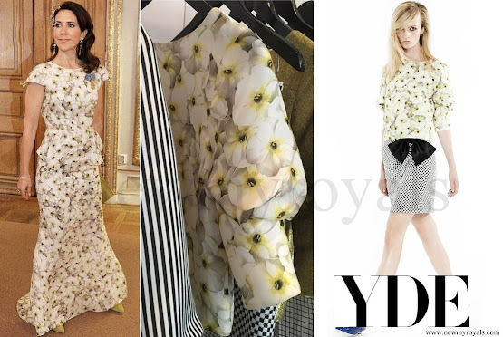 Crown Princess Mary wore YDE COPNHAGEN Gown Spring / Summer 2015
