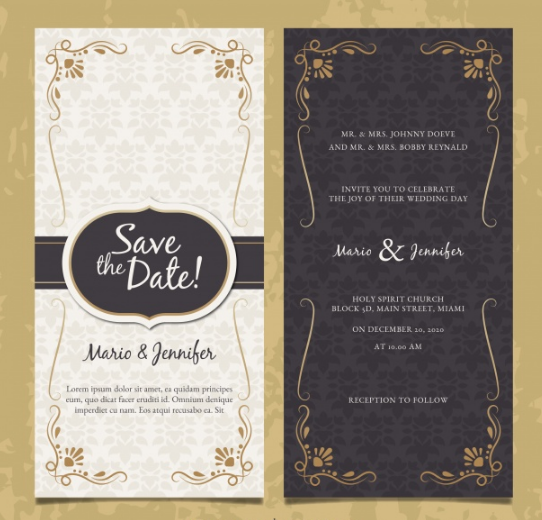 Kumpulan 15 Template Kosong Desain Kartu Undangan Pernikahan PSD Terbaik Buat Acara Pernikahan Anda