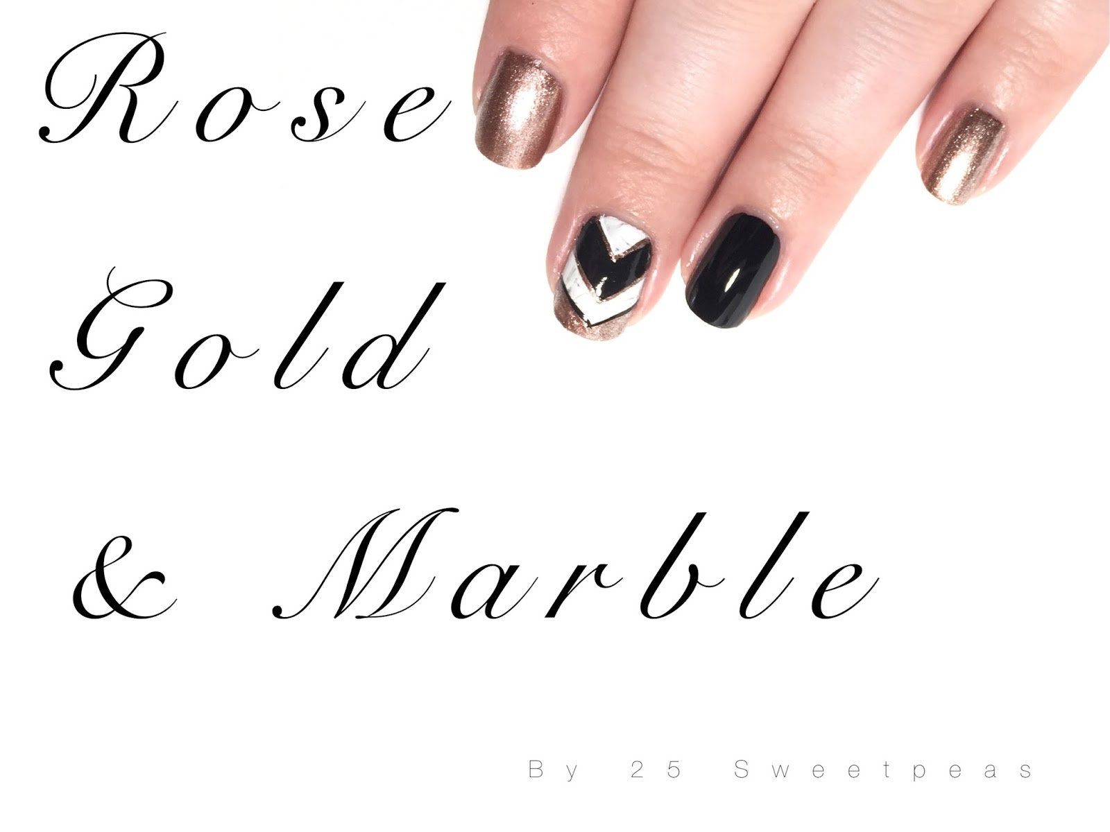 Rose Gold Marble Nails 25 Sweetpeas