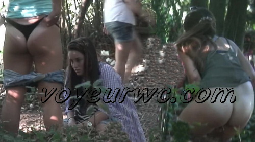 Girls Gotta Go 27 (Drunk Spanish girls pissing on hidden camera in the bushes)
