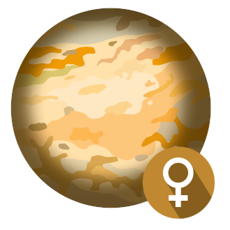 Планета Венера - маленькая картинка