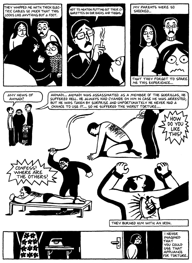 Read Chapter 7 - The Heroes, page 49, from Marjane Satrapi's Persepolis 1 - The Story of a Childhood