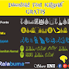 Gratis Download Fonts Jenis Kaligrafi