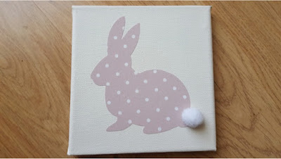 DIY bunny wall art