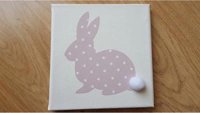 DIY bunny wall art
