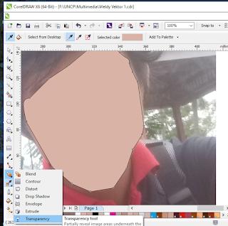 cara membuat gambar wajah transparan di coreldraw