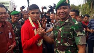 Prajurit TNI Peraih Medali Emas Asian Games 2018 Ini Dapat Hadiah Rumah