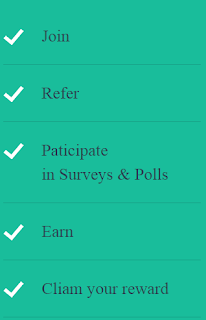 just fill the small surveys get your rewards in different forms in india and earn more by referring to friends you will get 25rs for each referrals.it just a simple trick to earn recharge for your phone or for shopping.