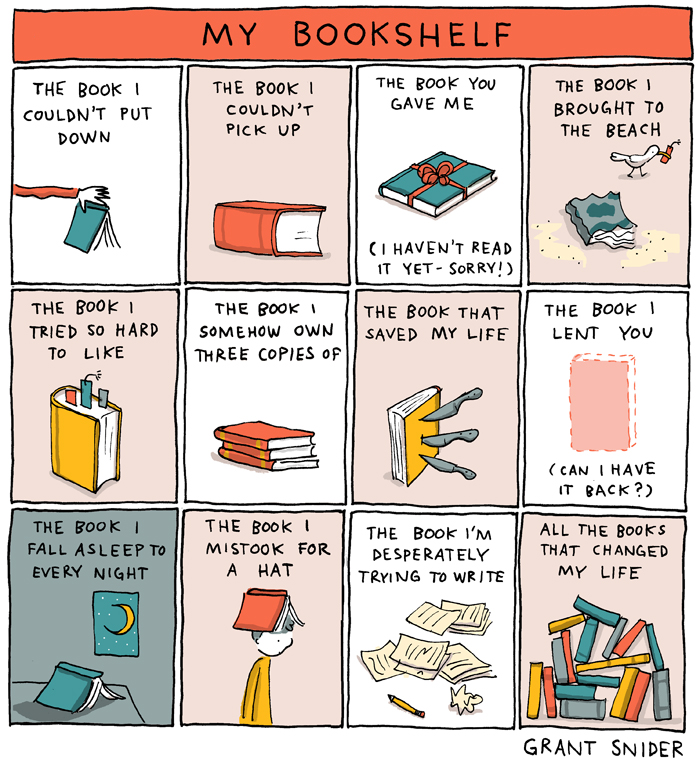 My Bookshelf from Grant Snider