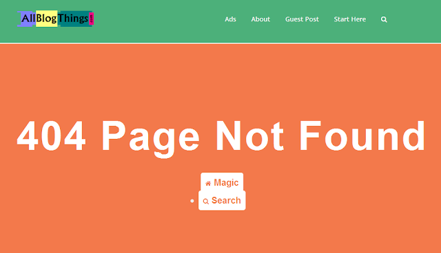 example of 404 error page