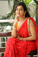 Lasya Cute Beauty in Saree Backless Choli at her Interview ~  Exclusive 030.JPG