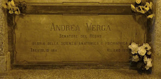 Andrea Verga's tomb at the Monumental Cemetery in Milan