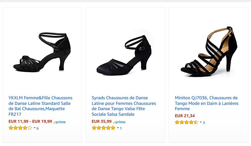 Chaussures de tango femmes pas cher