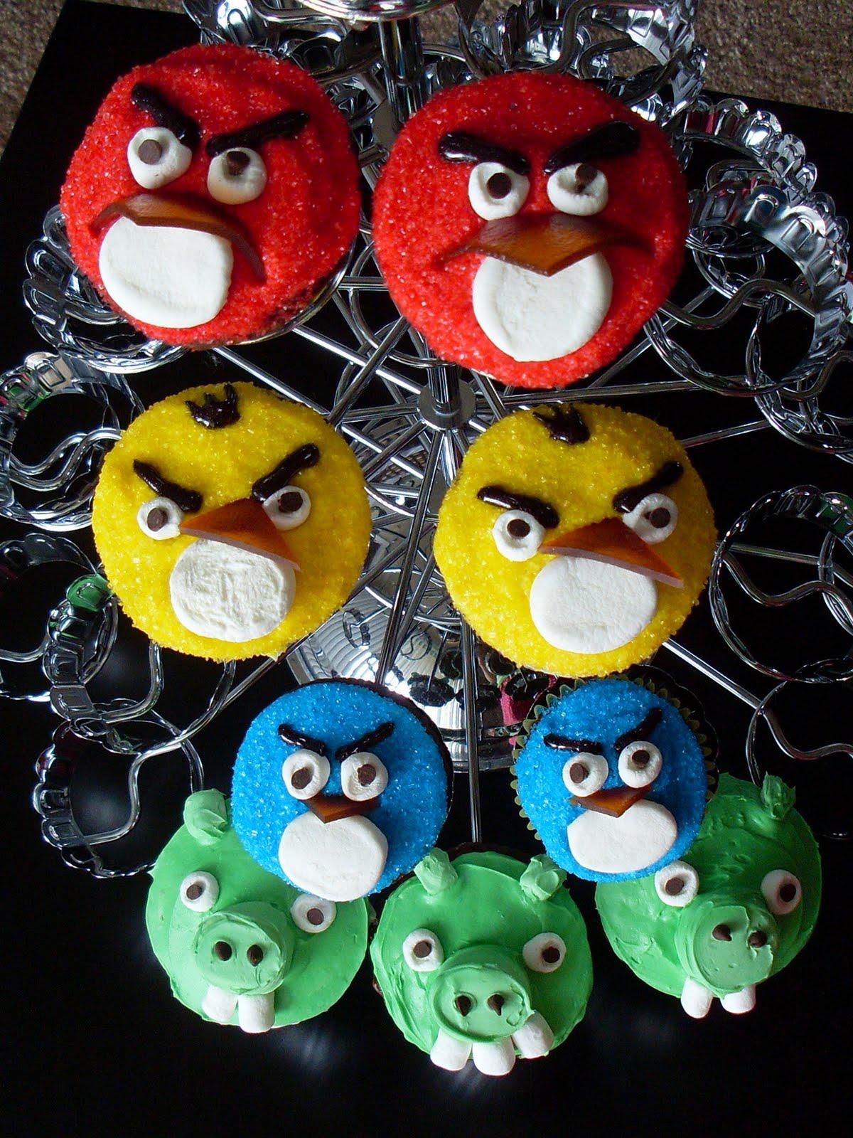 Candy Bar Cupcakes Angry Birds Cupcakes