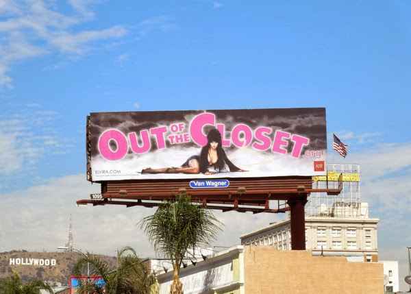Elvira Out of the Closet billboard