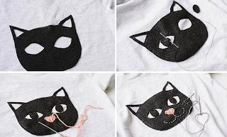 Bluza Keçeden Kedi Motifi Yapımı