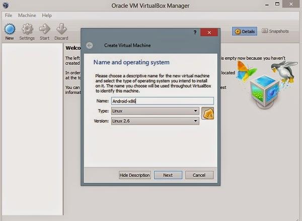 تحميل البرنامج VirtualBox