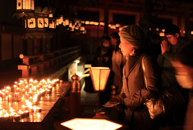 Setsubun Mantoro at Kasuga Taisha Shrine, Nara