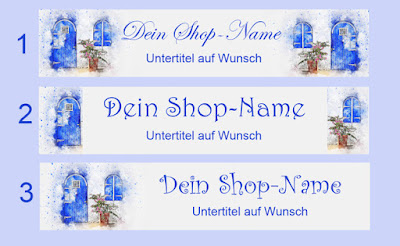 DaWanda Shop-Banner, Watercolor