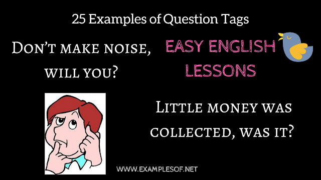 25 examples of question tag