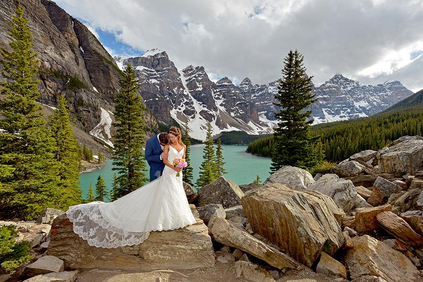 Banff Wedding Moraine Lake