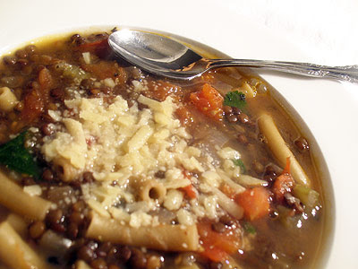 Puy Lentil and Tomato Soup