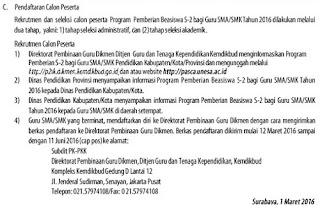 RESMI... Info Beasiswa S2 Guru SMA / SMK Kemdikbud Terbaru Untuk PNS dan Non PNS