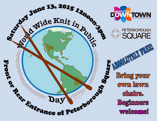 World Wide Knit in Public Day, 2015 - Peterborough