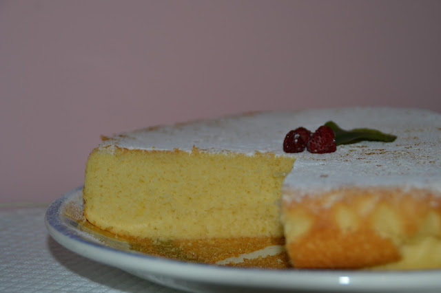 hot milk sponge cake (torta al latte caldo)