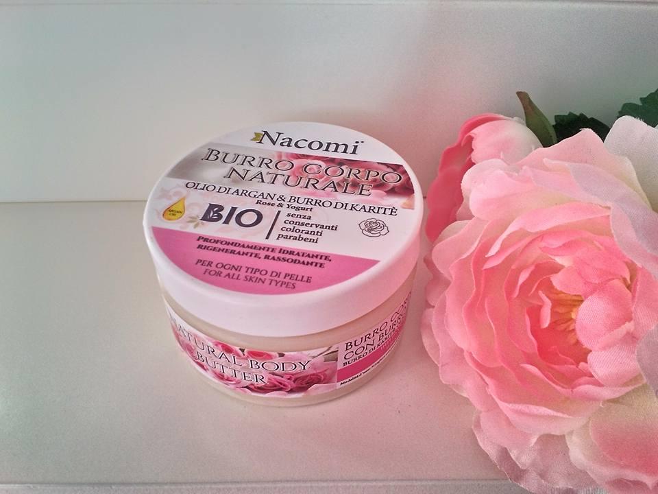 nacomi burro naturale al burro di karitè ed olio di argan profumo rosa