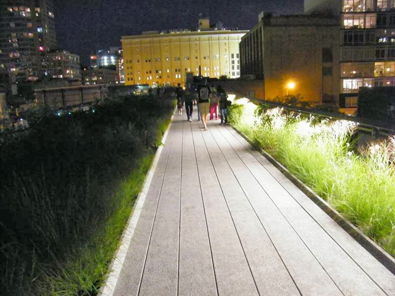 High Line Park, New York in Night