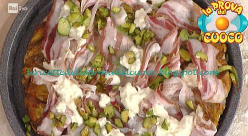 Prova del cuoco - Ingredienti e procedimento della ricetta Pizza con stracchino pancetta e zucchine di Gabriele Bonci