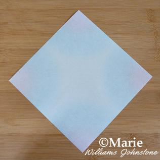Square sheet origami paper
