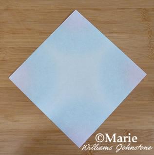 Square sheet origami paper