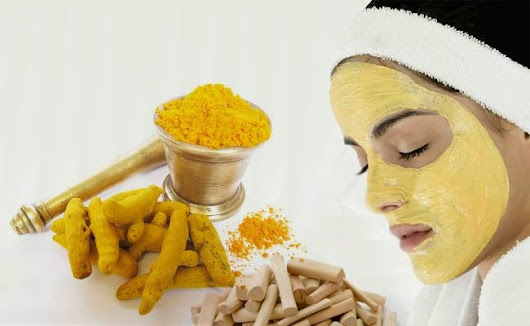 Get wonderful flawless bright skin naturally - DIY Tumeric Mask