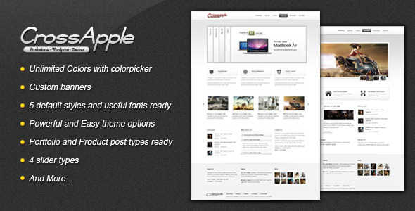 Cross Apple - Clean Business Wordpress Theme Free Download by ThemeForest.