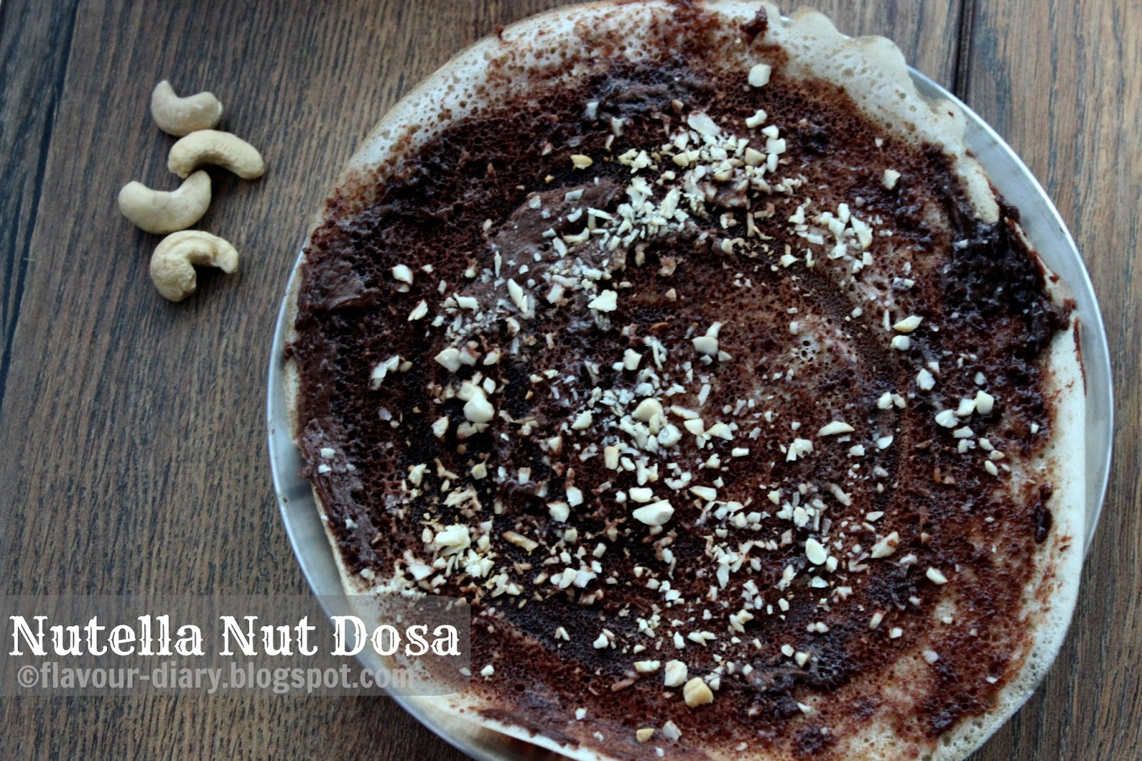Nutella fusion dosa recipes