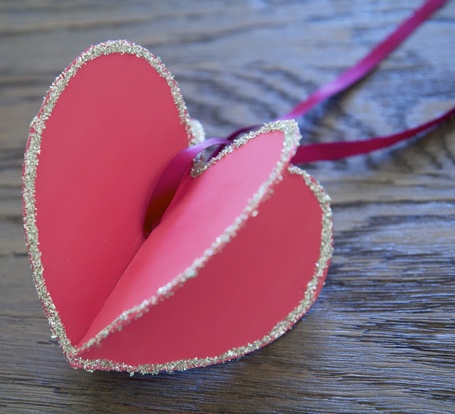 "DIY: ""Hearts-and-Crafts"" for Valentine's Day; making a 3-D heart; Nora's Nest"