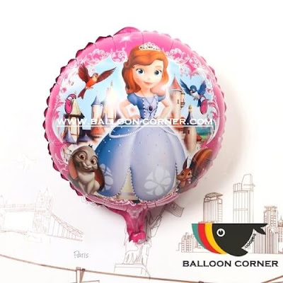 Balon Foil Bulat Princess Sofia (NEW)
