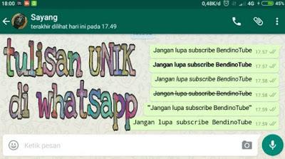 Membuat Tulisan tebal dan miring di whatsapp