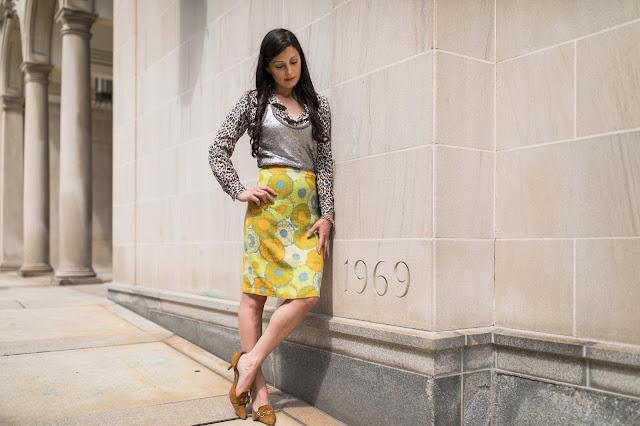 vintage skirt, leopard shirt, Meryl Franzos