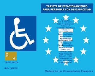 Tarjeta de estacionamiento para personas con movilidad reducida