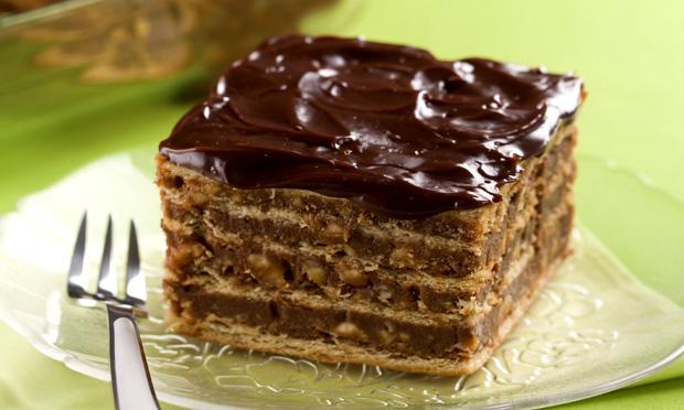 Receita de Pavê Charge com amendoim, caramelo e chocolate