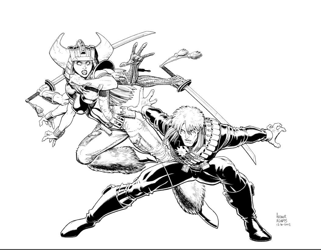 Marvel Comics Of The S Art Adams Longshot And Spiral