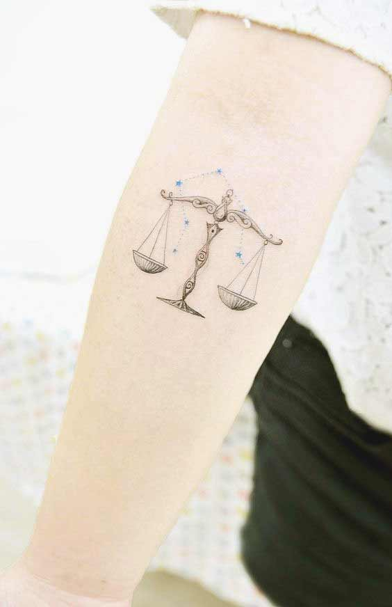 best libra tattoos on inner forearm