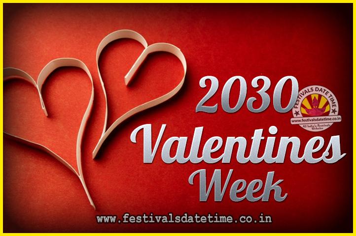 2030 Valentine Week List 2030 Valentine Week Schedule Hug Day Kiss Day Valentine S Day 2030 Festivals Date Time