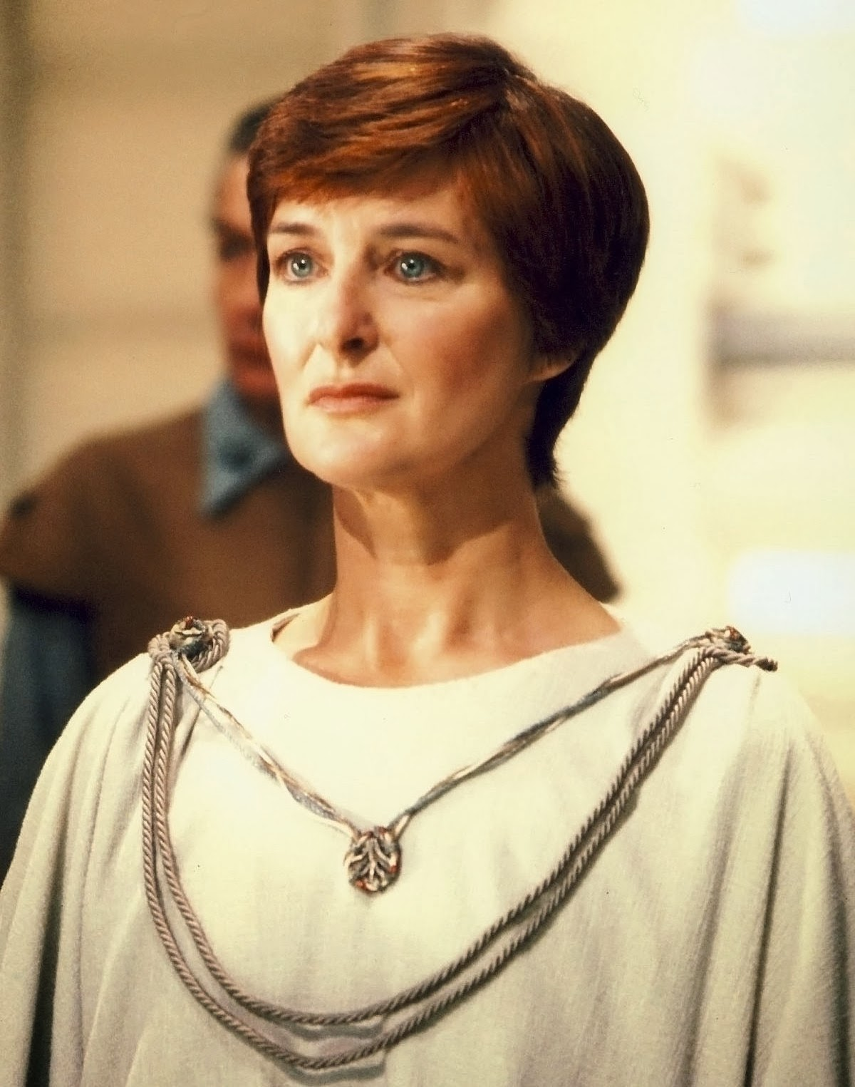 Caroline Blakiston as Mon Mothma in Return of the Jedi