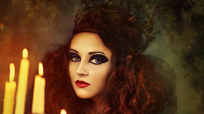 Wallpaper: Witch. Vampire. Girl Halloween Costume