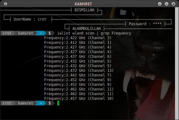 Cara Cek atau Scan Channel Frekuensi Wireless di Linux